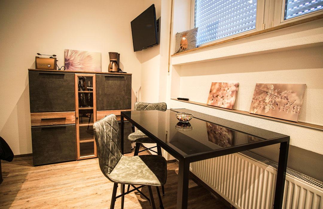 Nordstadtperle Ferienwohnung Esszimmer